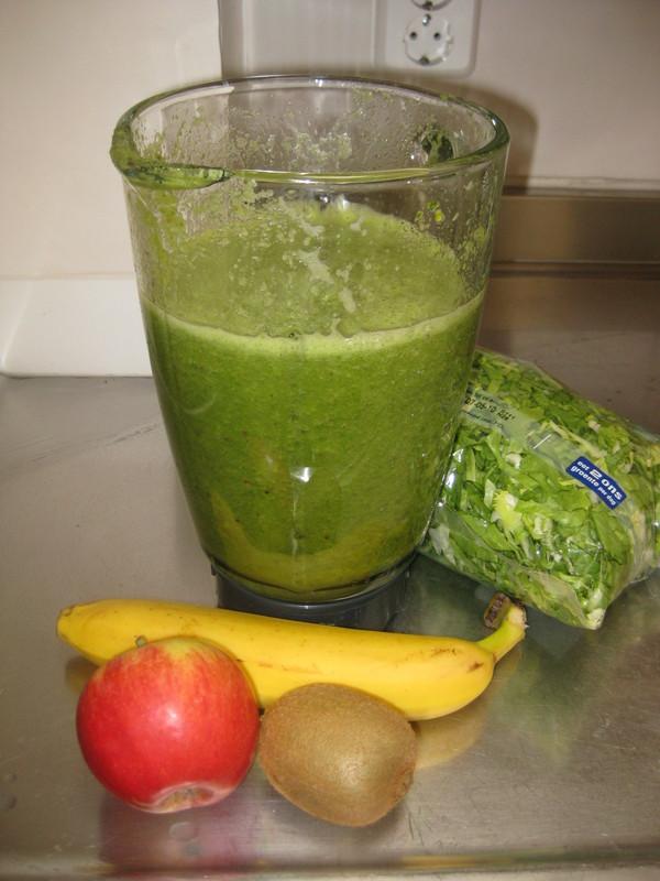 Groene smoothie andijvie banaan