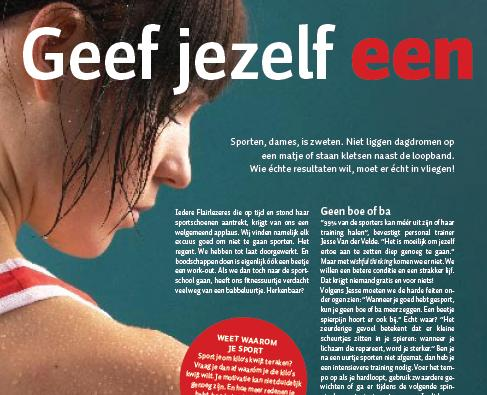 Personal Trainer Jesse van der Velde Interview Slankflair 2009